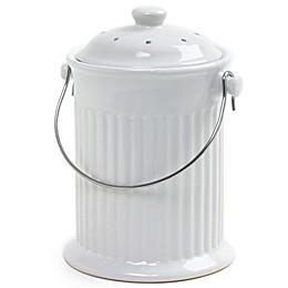 Norpro® Ceramic Compost Crock in White
