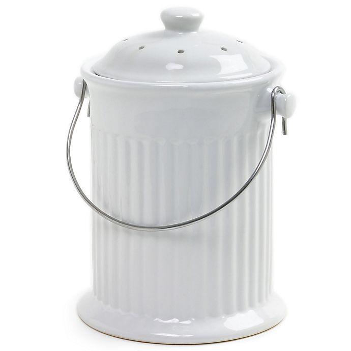 Alternate image 1 for Norpro® Ceramic Compost Crock in White