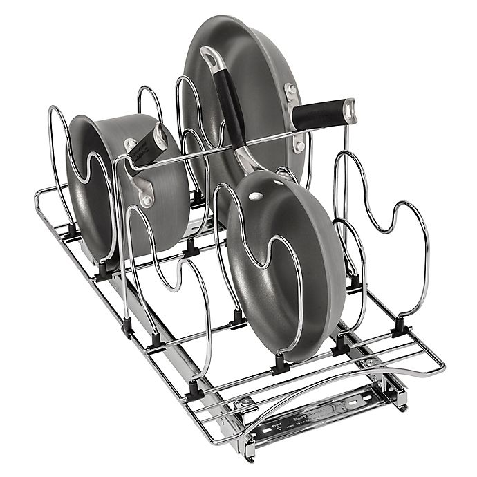 Alternate image 1 for Lynk Professional Roll-Out Steel Cookware Organizer