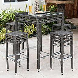Panama Jack® Graphite 5-Piece Outdoor Pub Set in Grey
