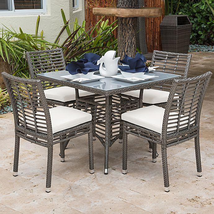 Panama Jack® Graphite 5-Piece Outdoor Dining Set In Grey