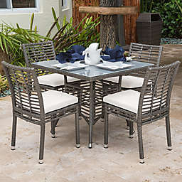 Panama Jack® Graphite 5-Piece Outdoor Dining Set in Grey
