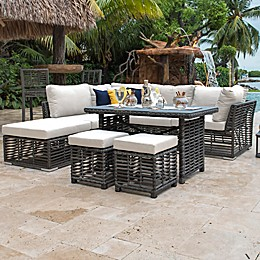 Panama Jack® Graphite 8-Piece Patio Sectional Set in Grey