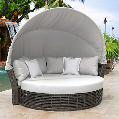 Panama Jack® Graphite Outdoor Canopy Daybed in Grey