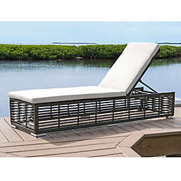 Panama Jack® Graphite Outdoor Chaise Lounge with Wheels in Grey