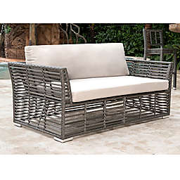 Panama Jack® Graphite Patio Loveseat in Grey