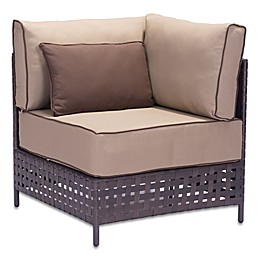 Zuo® Pinery Outdoor Corner Chair in Brown/Beige