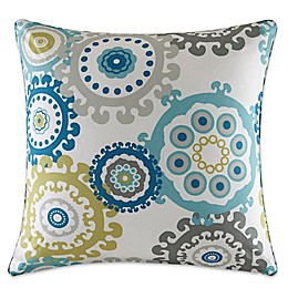 Madison Park Laguna Medallion Outdoor Square Pillow in Blue