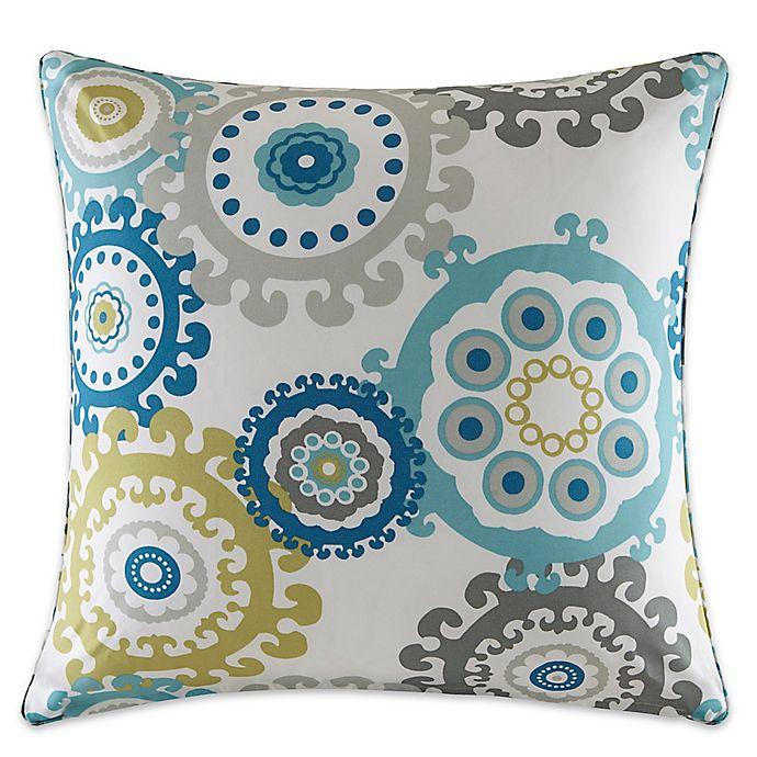 Alternate image 1 for Madison Park Laguna Medallion Outdoor Square Pillow in Blue