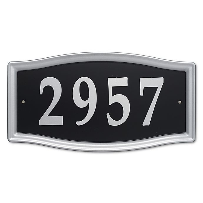 Alternate image 1 for Whitehall Products Easy Street Address Sign in Nickel