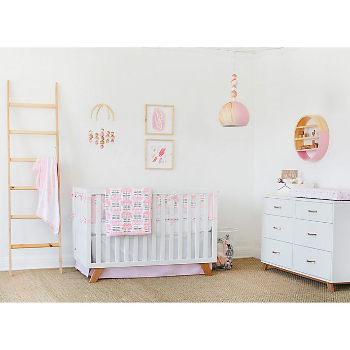 Alternate image 1 for Petunia Pickle Bottom® Dreaming in Dax 3-Piece Crib Bedding Set in Pink/Brown