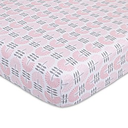 Petunia Pickle Bottom® Dreaming in Dax Jersey Fitted Crib Sheet in Pink/Grey