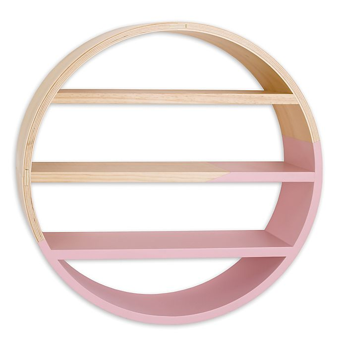 Alternate image 1 for Petunia Pickle Bottom® Dreaming in Dax Crib Wooden Wall Shelf in Pink/Brown