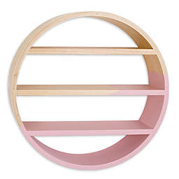 Petunia Pickle Bottom® Dreaming in Dax Crib Wooden Wall Shelf in Pink/Brown