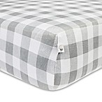 Burt's Bees Baby® Buffalo Check Organic Cotton Fitted Crib Sheet in Fog