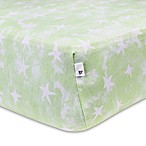 Burt's Bees Baby® Watercolor Star Organic Cotton Fitted Crib Sheet in Lilypad