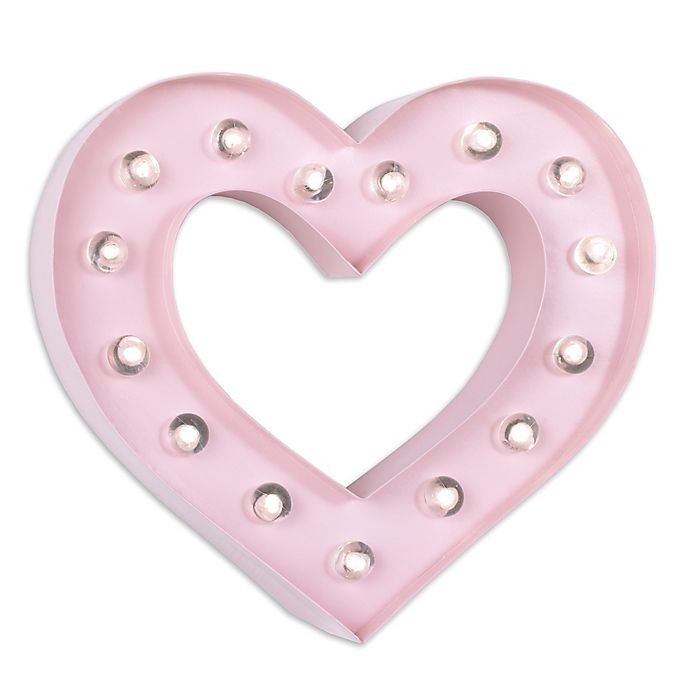 Alternate image 1 for Nautica Kids® Heart Marquee Light in Pink