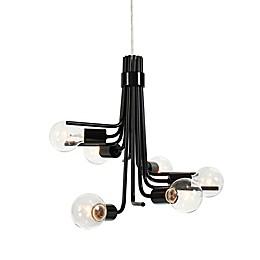 Varaluz® Socket-To-Me 6-Light Ceiling Mount Chandelier in Black