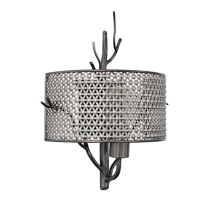 Alternate image 1 for Treefold 1-Light Steel Sconce with Recycled Steel Mesh