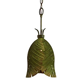 Varaluz Banana Leaf Mini Pendant in Green