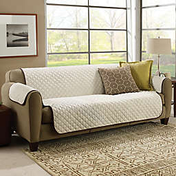 CouchCoat™ Furniture Cover in Brown/Cream