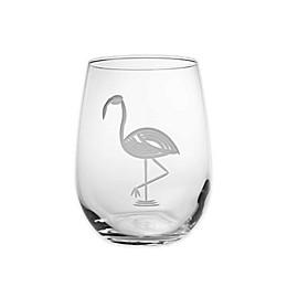 Flamingo Stemless Wine Glass