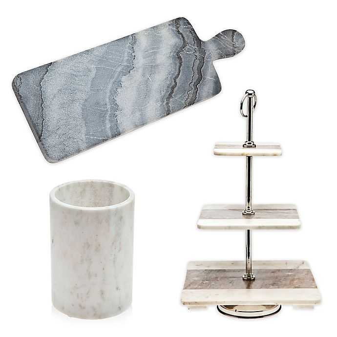 Godinger Marble Kitchen Accessories Collection   Bed Bath ...