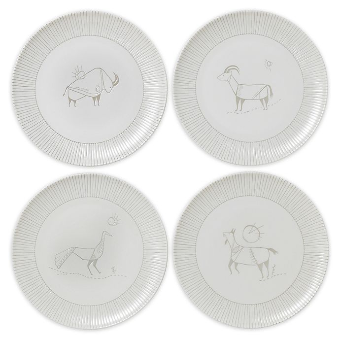 Alternate image 1 for ED Ellen DeGeneres Crafted by Royal Doulton® Cave Animal Salad Plates (Set of 4)
