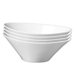 Fortessa® Accentz 6-Inch Oval Dipping Bowls in White (Set of 4)