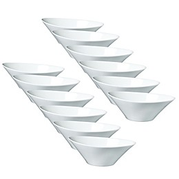Fortessa® Accentz 4-Inch Oval Dipping Bowls in White (Set of 12)