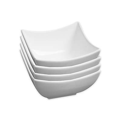Fortessa® Accentz Square Bowls in White (Set of 4)