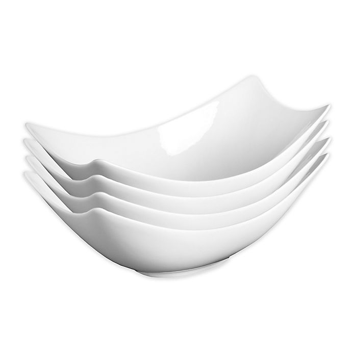 Alternate image 1 for Fortessa® Accentz Fiji 8.5-Inch Rectangular Bowls (Set of 4)