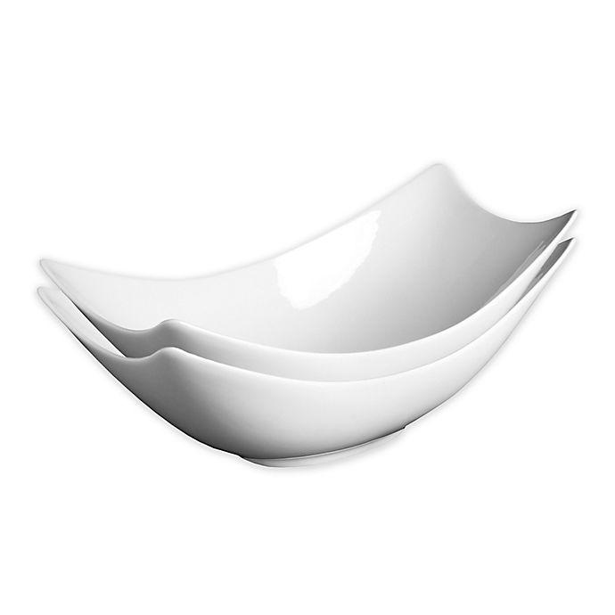 Alternate image 1 for Fortessa® Accentz Fiji 13-Inch Rectangular Bowls (Set of 2)