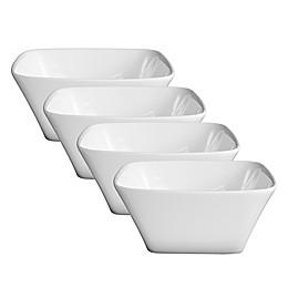 Fortessa® Accentz 5-Inch Square Bowls in White (Set of 4)
