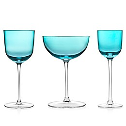 Godinger Rondo Sea Blue Wine & Bar Collection