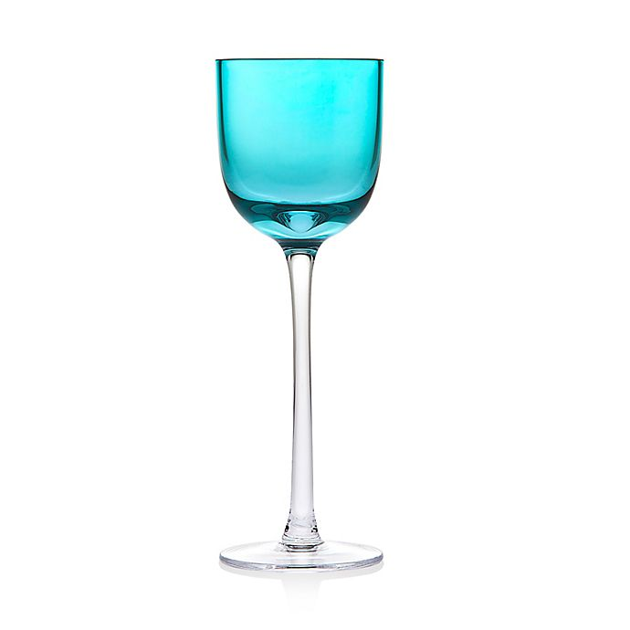 Alternate image 1 for Godinger Rondo Stemmed Liqueur Glasses in Sea Blue (Set of 4)