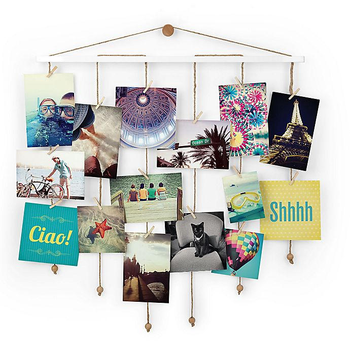 Alternate image 1 for Umbra® Dangle Photo Display Wall Collage in White