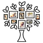 Wallverbs™ Open Leaf Tree 19-Piece Picture Frame Set in Black