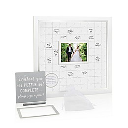 Pearhead® Wedding Guest Puzzle 5-Inch x 7-Inch Photo Frame in White