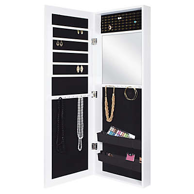 Door Solutions™ Value Mirror Jewelry and Accessory Organizer in White