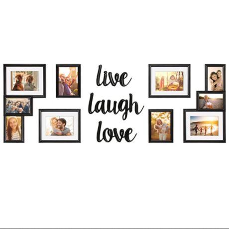 Wallverbs 174 9 Piece Quot Live Love Laugh Quot Photo Frame Set Bed