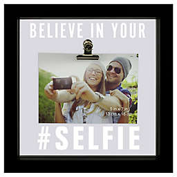 Sentiments Selfie-Theme Illuminated Square Float Picture Frame With Clip in Black