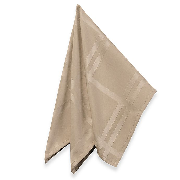 Alternate image 1 for Origins™ Microfiber Napkins in Beige (Set of 2)