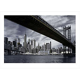 Elementem Photography 24-Inch x 36-Inch Photographic Wall Art of Manhattan Bridge