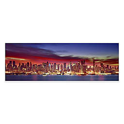 Elementem Photography 20-Inch x 60-Inch Photographic Wall Art of New York City at Night