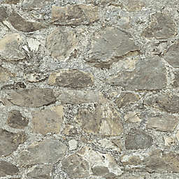 """Roommates """"Weathered Stone"""" Peel & Stick Wall Décor in Grey/Almond"""