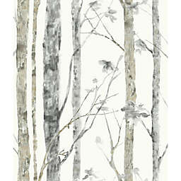 """Roommates """"Birch Trees"""" Peel & Stick Wall Décor in White/Brown"""