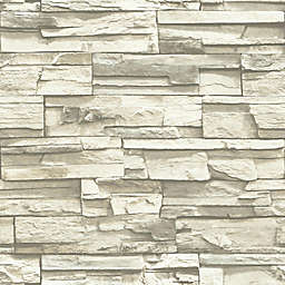 """Roommates """"Stacked Stone"""" Peel & Stick Wall Décor in Grey"""