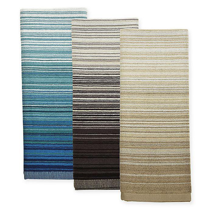 Alternate image 1 for ED Ellen DeGeneres™ Shiburi Stripe Dual Purpose Kitchen Towel