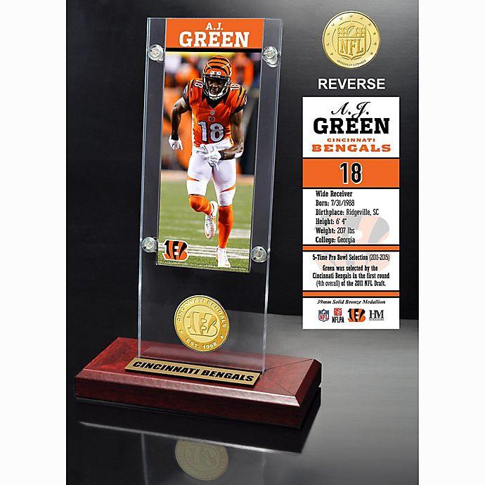 Alternate image 1 for NFL Cincinnati Bengals A.J. Green Ticket and Team Coin Desktop Display